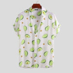 Оригинал Mens Avocado Printed Summer Hawaiian Vacation Fashion Shirts
