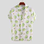 Оригинал Mens Avocado Printed Summer Hawaiian Vacation Fashion Shirts
