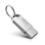 Оригинал DM 32GB USB 2.0 Водонепроницаемы Алюминий USB 2.0 Flash Диск Ручка Диск U Диск с кольцом для ключей