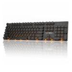 Оригинал 104 Ключа Ретро Круглые Клавиатуры Радуга Оранжевая Подсветка Проводной Игры Механический Клавиатура