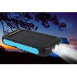 Оригинал BAKEEY LED Dual USB Порты Солнечная Панель Power Bank Чехол 10000 мАч Водонепроницаемы Батарея Зарядное устройство DIY Комплекты Коробка Корпус для Мобиль