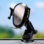 Оригинал 10W Qi Беспроводное зарядное устройство Быстрая зарядка Gravity Linkage Automatic Замок Air Vent Dashboard Авто Держатель телефона для 4.0-6.5 дюймов Смартфон