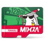 Оригинал Mixza Christmas Shark Limited Edition 128GB U1 Class 10 TF Микро-карта памяти для цифровых зеркальных фотоаппаратов камера TV Коробка MP3