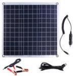 Оригинал Алюминий 60W Пластина Солнечная Панель Двойной порт USB Солнечная Панель с питанием
