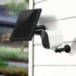Оригинал Solar Power 1080P 2-мегапиксельная WIFI IP камера PIR Обнаружение IP65 Водонепроницаемы Двусторонняя передача голоса с панелью солнечных батарей