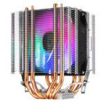 Оригинал 12-вольтовый RGB 4-проводной, один вентилятор, 4 тепловых трубки, двухбашенный радиатор, радиатор, бесшумный вентилятор охлаждения, для Intel LAG, 11