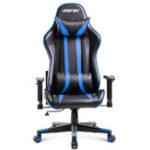 Оригинал Merax Офисный стул Эргономичный высокоспинный гоночный игровой стул Компьютерный стул Кожа PU Регулируемая высота Вращающийся подъемный сту
