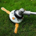 Оригинал Двойная травяная Триммер головка пластиковая цепная пила с Nylon линии для газонокосилки Щетка