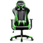 Оригинал Merax Офисный стул с высокой спинкой PU Кожаный гоночный стул Эргономичное кресло с откидной спинкой Регулируемая высота Вращающийся подъемн