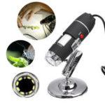 Оригинал 1600X8 LED USB Zoom 3 In1 Цифровой микроскоп Портативный биологический USB-микроскоп Увеличение