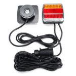 Оригинал 2шт магнитный трейлер задние фонари стоп индикатор лицензии Пластина Лампа Водонепроницаемы 12 В 16LED