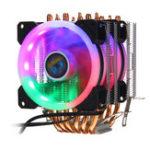 Оригинал  Aurora Colorful 3-контактные 2 вентилятора с подсветкой 6 Медь Трубка Радиатор охлаждения с двумя башнями и вентилятором охлаждения радиатора для
