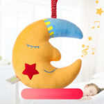 Оригинал Желтая Луна Спокойной ночи Музыка Baby Bell Toy Дети Детский Подарок Украшение Комнаты Мягкие Плюшевые Игрушки