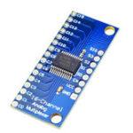 Оригинал АЦП CMOS CD74HC4067 16-канальный аналоговый цифровой модуль мультиплексора плата для Arduino