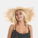 Оригинал Woman Lafite Grass Gole Fine Leather Веревка Соломенная бант Шапка