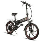 Оригинал SamebikeXW-20LY350WSmartскладнойэлектрический велосипед 35 км / ч Макс. Скорость 48V 8AH E-Bike Батарея
