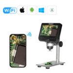 Оригинал MUSTOOL G610 WIFI 2MP 4.3inch LCD Микроскоп Поддержка IOS Android Система Встроенная перезаряжаемая Батарея & 8 регулируемых светодиодов с металлической по