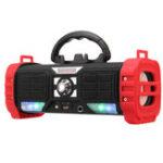 Оригинал Портативный беспроводной Bluetooth-динамик Светодиодный Heavy Bass 2200mAh TF Card Speaker с микрофоном с держателем для телефона