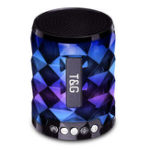 Оригинал Mini Wireless bluetooth Speaker FM Radio TF Card Colorful Light Music Speaker with Mic