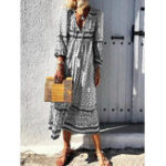 Оригинал Bohemian Women V-neck Floral Printed Maxi Dress