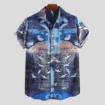 Оригинал Mens Summer Hawaiian Short Sleeve Pattern Printed Shirts