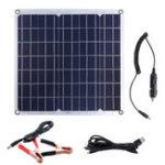 Оригинал 50 Вт 12/5V Портативный Солнечная Панель Dual USB для Авто RV Батарея Зарядка