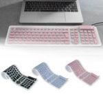 Оригинал 109 Keys Super Thin Foldable Waterproof Dustproof Mute USB charging USB Wired Silicone Keyboard for laptop and Lesktop