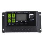 Оригинал ШИМ 10A 12 В / 24 В Авто Солнечная Панель Солнечная Контроллер зарядки Батарея Адаптер зарядки LCD USB