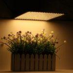 Оригинал 225LED Grow Light Warm White Лампа Ультратонкая Панель Гидропоника Крытый Растение Овощной Цветок AC85-265V
