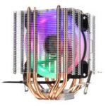 Оригинал Aurora Colorful 3-контактный вентилятор с подсветкой и одним вентилятором 4 Медь Трубка Радиатор охлаждения радиатора с двумя башнями для Intel драм