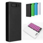 Оригинал 30000mAh DIY Портативное зарядное устройство Dual USB Батарея Power Bank Чехол 8×18650