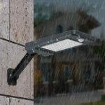 Оригинал 60 LED Дистанционное Управление Солнечная PIR Motion Датчик Уличный фонарь Водонепроницаемы На открытом воздухе Сад Стена Лампа 3 режима освещен