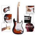 Оригинал IRIN ST 38 дюймов 6-струнная электрогитара с гитарой Сумка / Струны / Рокер / Гаечный ключ / Picks / Strap / Cable