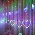 Оригинал Занавес Окна LED Огни Строки Рождество Led Свадебное Валентина День Сказочных Украшений