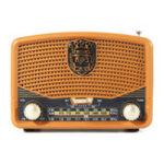Оригинал Портативный Ретро FM AM SW Радио AUX USB TF Карта Bluetooth-динамик MP3-плеер