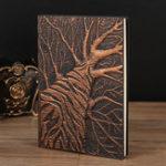 Оригинал Тисненое дерево-журнал о путешествиях Винтаж Записная книжка ручной работы в старинном стиле