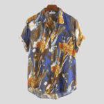 Оригинал Мужская Граффити Печать Абстрактной Живописи Стильные Рубашки