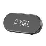 Оригинал BaseusE09БеспроводнойBluetooth-динамикHiFiDual Units Dual Alarm Часы LED Дисплей Свет FM Радио TF Карта Динамик с микрофоном