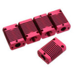 Оригинал 5Pcs 27*20*12mm Aluminum Cooling Heatsink Radiator Block for CR-10 Series/ Ender-3 3D Printer MK10 Extruder