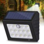 Оригинал 14 LED Солнечная Свет На открытом воздухе Движение Датчик Свет безопасности Патио Путь Лампа