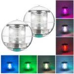 Оригинал Солнечные батареи Colorful Вода Плавающий Шар Лампа LED На открытом воздухе Подводный Светильник для Двор Пруда Сад Бассейн Свет Украшения