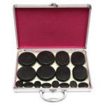 Оригинал 16 Шт. SPA-Массажер Аксессуары для Помощи Кожи Терапия Хот-Рок Базальтовые Камни Набор Отопление Коробка