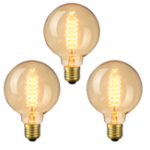 Оригинал 3PCS Elfeland AC220-240V 2200K E27 G95 40W Retro Edison Incandescent Light Bulb for Indoor Home Use