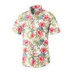 Оригинал Мужские летние хлопковые печатные рубашки Пляжный