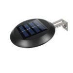 Оригинал 9 LED Солнечная Мойка на крыше с электроприводом Сад Настенный светильник во дворе Автоматическое включение / выключение холодный