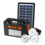 Оригинал 25w Аварийный портативный Солнечная Panel Power Generator 3 Лампа Система освещения USB-карта Радио Аудио Солнечная Powered System Generator