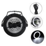 Оригинал 2-в-1 Кемпинг Подвесной светильник для потолочного вентилятора Лампа Фонарь На открытом воздухе 12 LED Лампа-USB Стиль