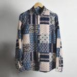 Оригинал Мужские рубашки с длинным рукавом с цветочным принтом Bohemia Винтаж