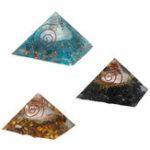 Оригинал Медитация с драгоценными камнями из натуральной пирамиды Yoga Энергия исцеления Камень 70-75мм