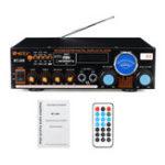 Оригинал 1200 Вт 2-канальная мощность Усилитель Дистанционное Управление Аудио стерео Bluetooth Радио Динамик